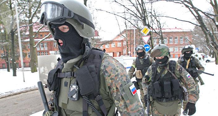 El FSB durante unos ejercicio antiterroristas