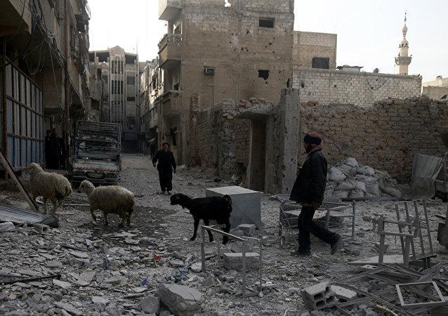 Situación en Guta Oriental siria (archivo)