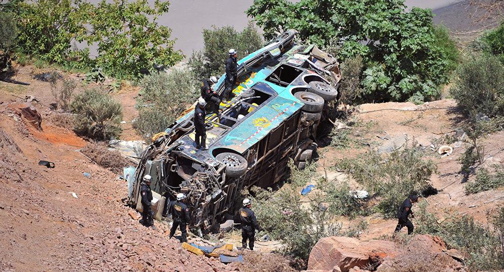 El autobús siniestrado en Perú