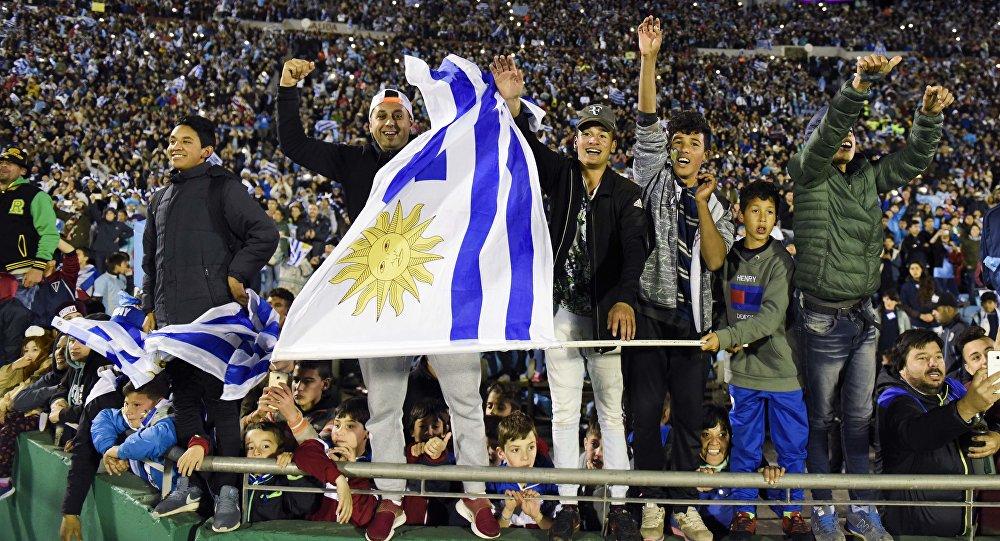 Los hinchas de Uruguay