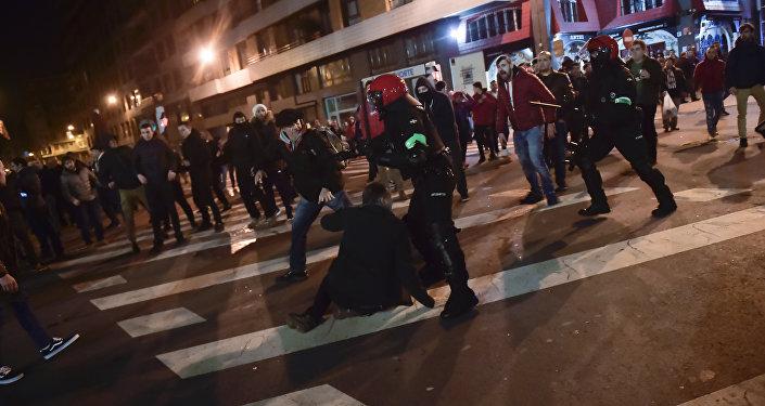 Enfrentamientos en Bilbao