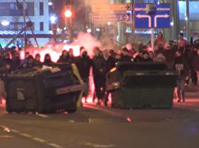 Pelea violenta en las calles de Bilbao antes del partido entre el Athletic y el Spartak