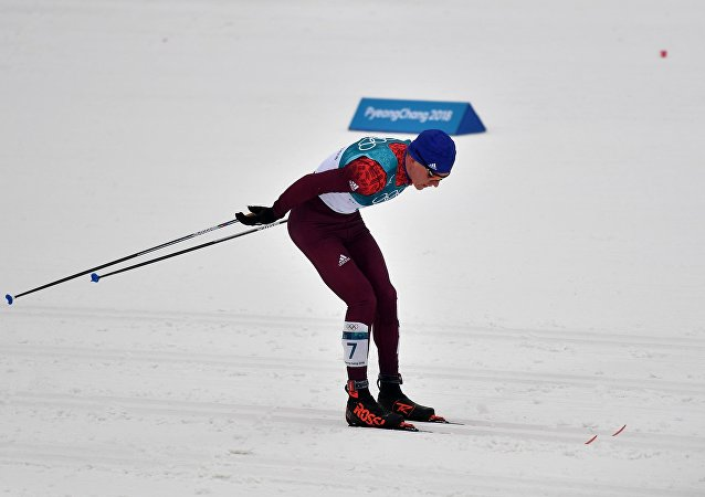 El esquiador de fondo Alexandr Bolshunov