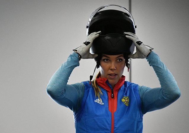La atleta rusa de bobsleigh Nadezhda Sergeeva