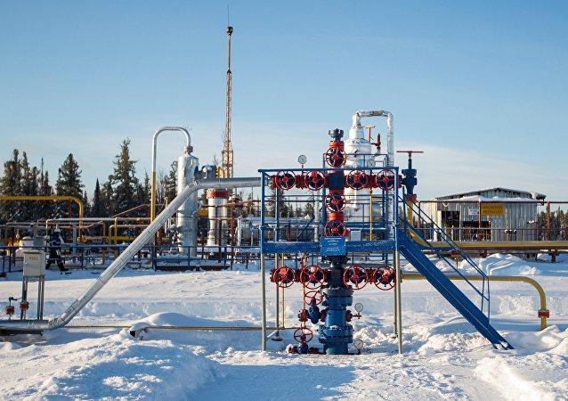 Un pozo de gas de la compañía Gazprom (archivo)