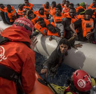 Migrantes de Libia (archivo)