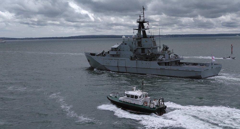 Buque patrullero HMS Mersey (archivo)