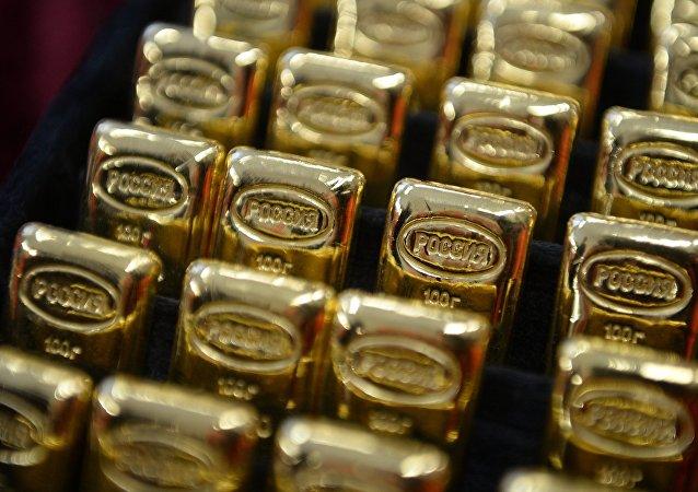 Lingotes de oro de Rusia