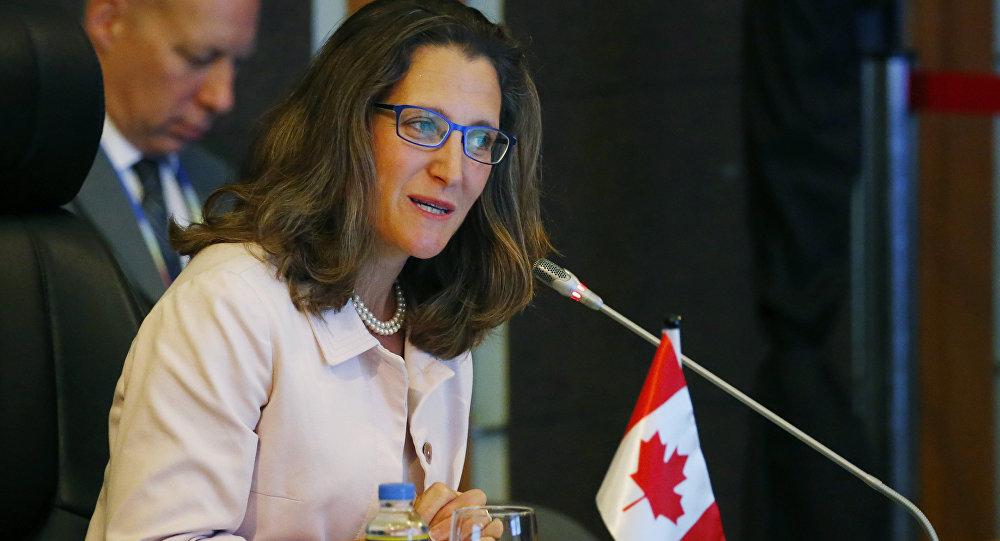 Chrystia Freeland, la ministra de Relaciones Exteriores de Canadá (archivo)