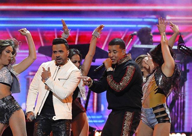 Daddy Yankee durante un concierto de los Grammy en Nueva York