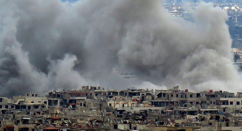 Situación en Guta Oriental después de los ataques (archivo)