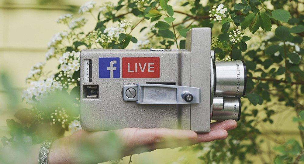 Una cámara con el logo de Facebook Live (imagen referencial)