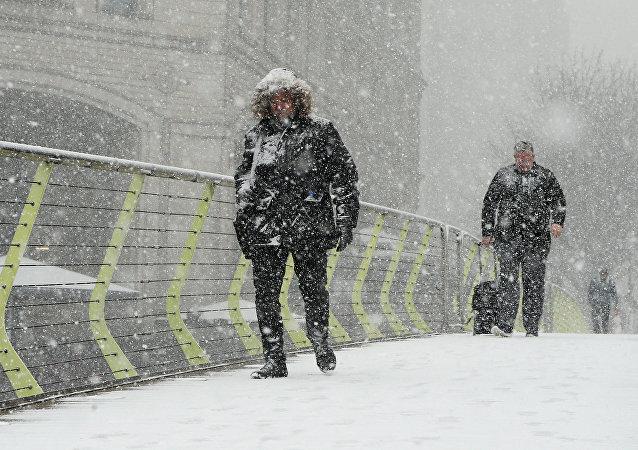 Ola de frío en el Reino Unido