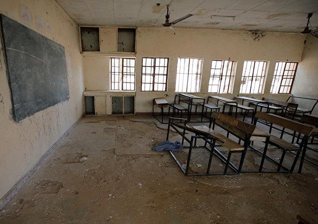 Escuela en Dapchi, Nigeria, donde 110 niñas fueron secuestradas por los terroristas de Boko Haram