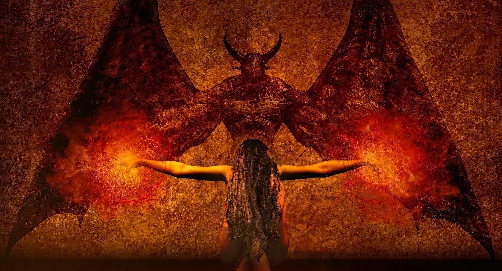 Demonio (ilustración artística)