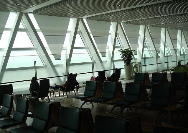 El aeropuerto en la isla japonesa de Hokkaido