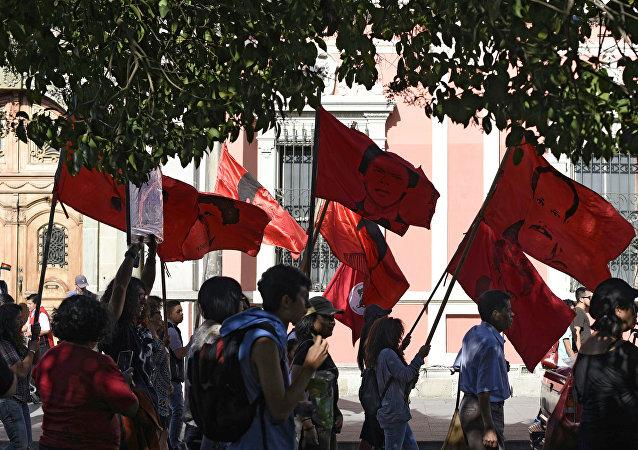 Manifestaciones de los parientes de los desaparecidos durante la guerra civil en Guatemala