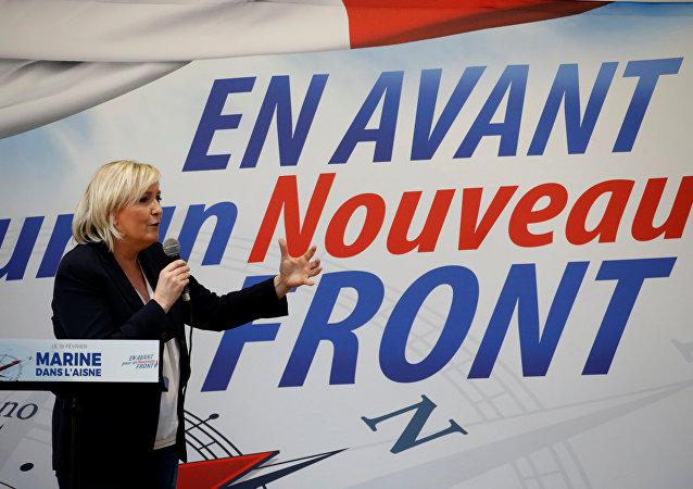 Marine Le Pen, líder del Frente Nacional francés