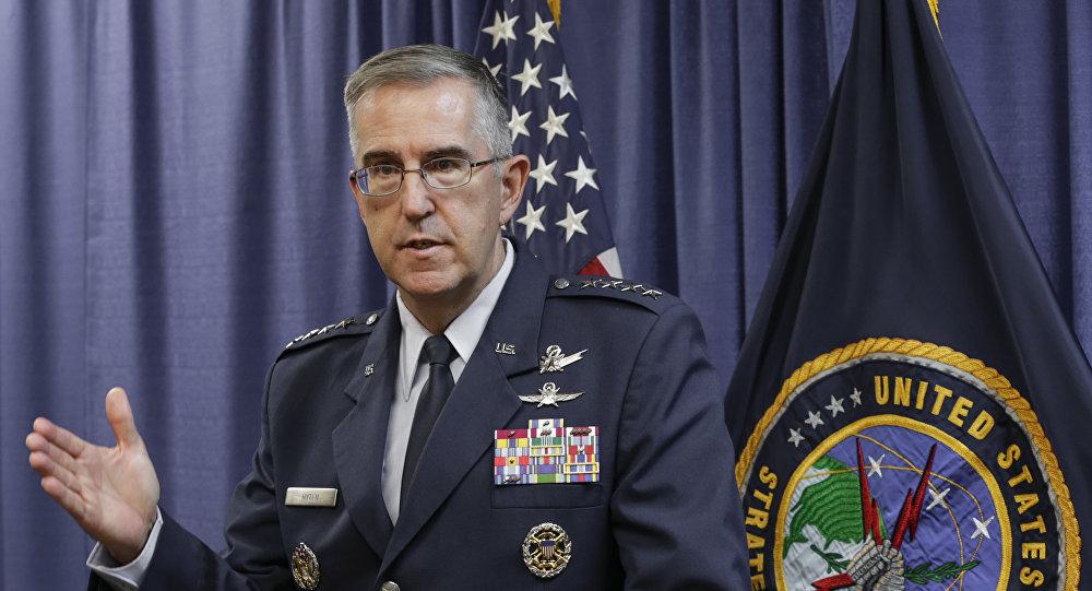 Jefe del Comando Estratégico de las Fuerzas Armadas de EEUU, John Hyten