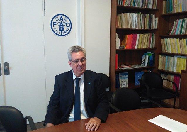 Vicente Plata, representante de la FAO en Uruguay