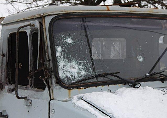 Los resultados del bombardeo en Donetsk