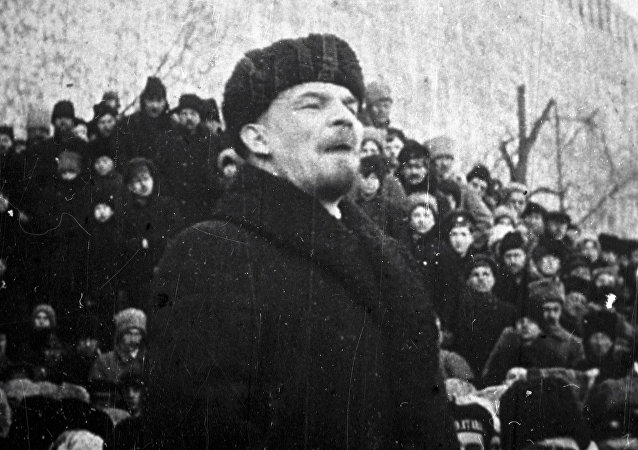 Vladímir Lenin, principal dirigente de la Revolución de Octubre de 1917 y líder de la URSS