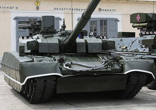 Un tanque de las Fuerzas Armadas de Ucrania