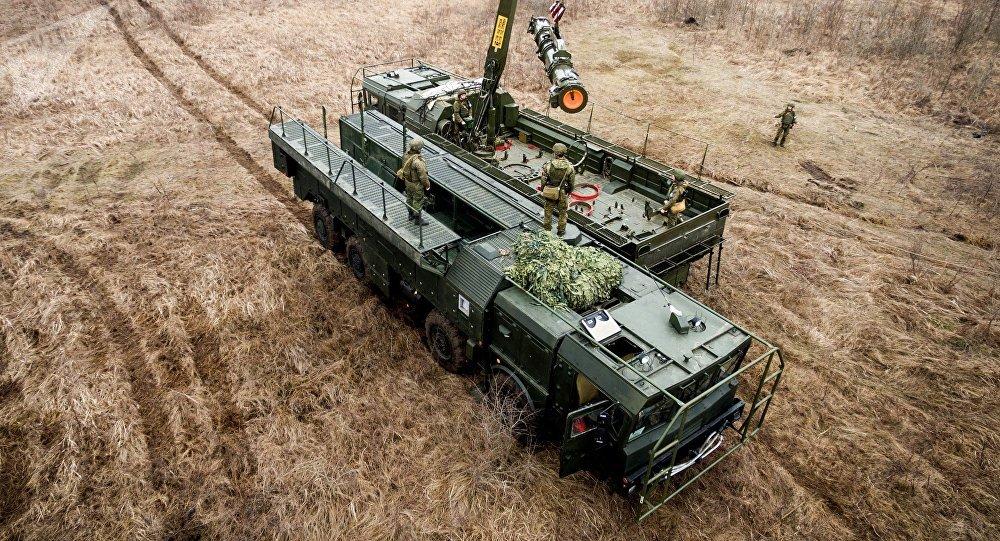 Sistema de misiles Iskander-M, foto de archivo