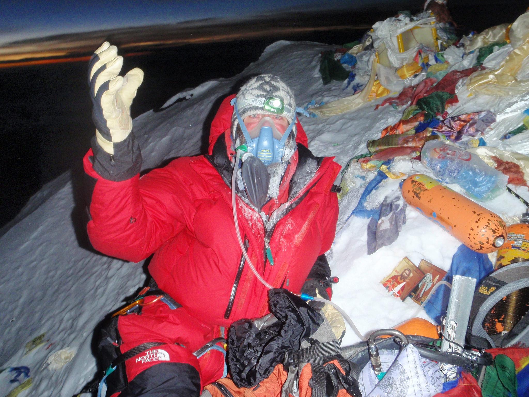 Fiódor Kóniujov en el Everest