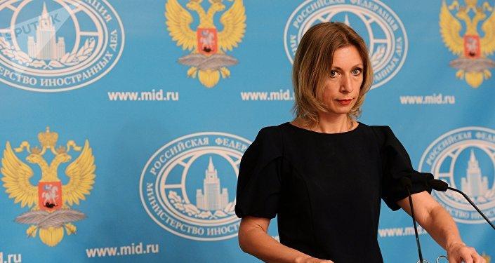 María Zajárova, la portavoz del Ministerio ruso de Asuntos Exteriores