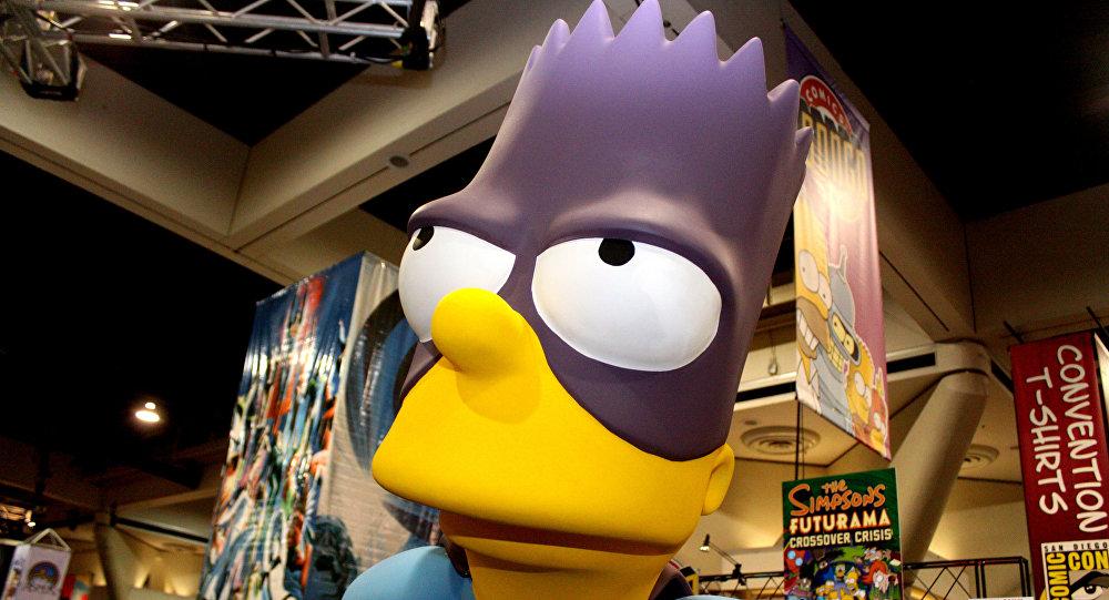 Una figura de Bart Simpson