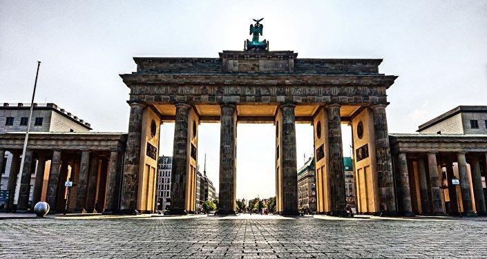 Puerta de Brandeburgo en Berlín, Alemania