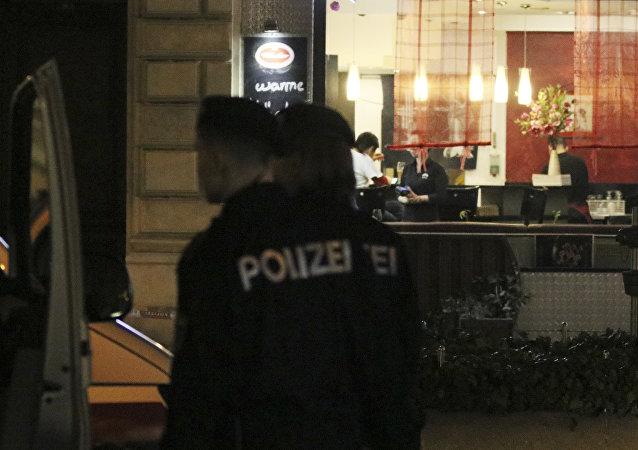 El lugar de ataque con cuchillo en Viena (7 de marzo de 2018)