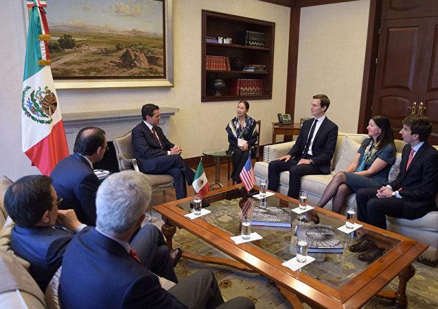 La reunión entre el presidente de México, Enrique Peña Nieto y el asesor de la Casa Blanca, Jared Kushner