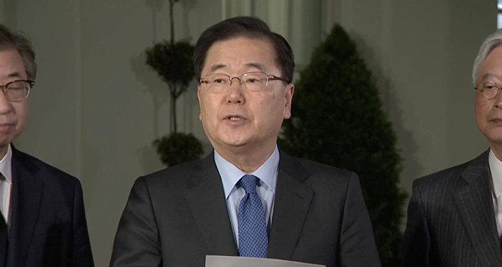 Chung Eui-yong, el consejero de seguridad nacional de Corea del Sur