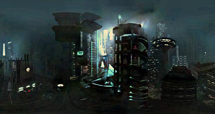 Un dibujo futurista (archivo)