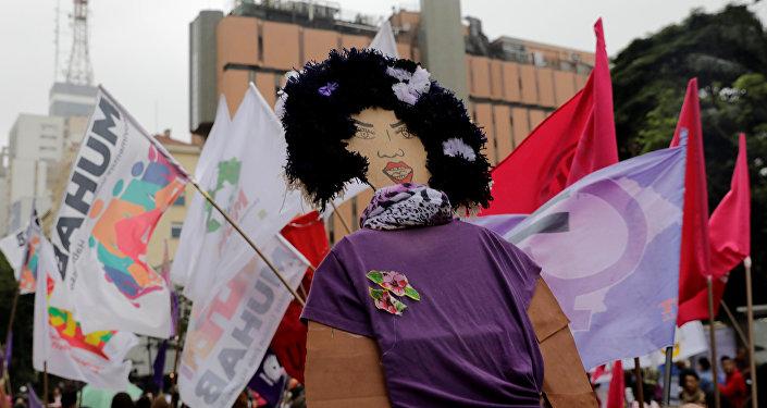 Manifestación de las mujeres en Brasil