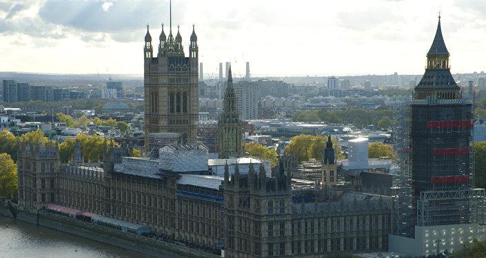 El Palacio de Westminster, en Londres, Reino Unido