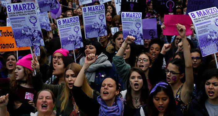 Protestas en España con motivo del Día Internacional de la Mujer