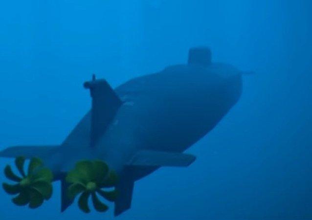 Sistema polivalente naval de vehículos submarinos no tripulados de propulsión nuclear