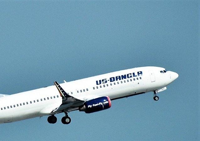 Un avión de US-Bangla (imagen referencial)