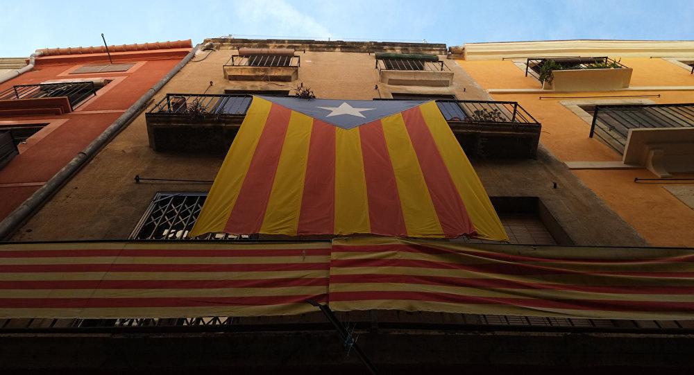 La bandera independentista de Cataluña