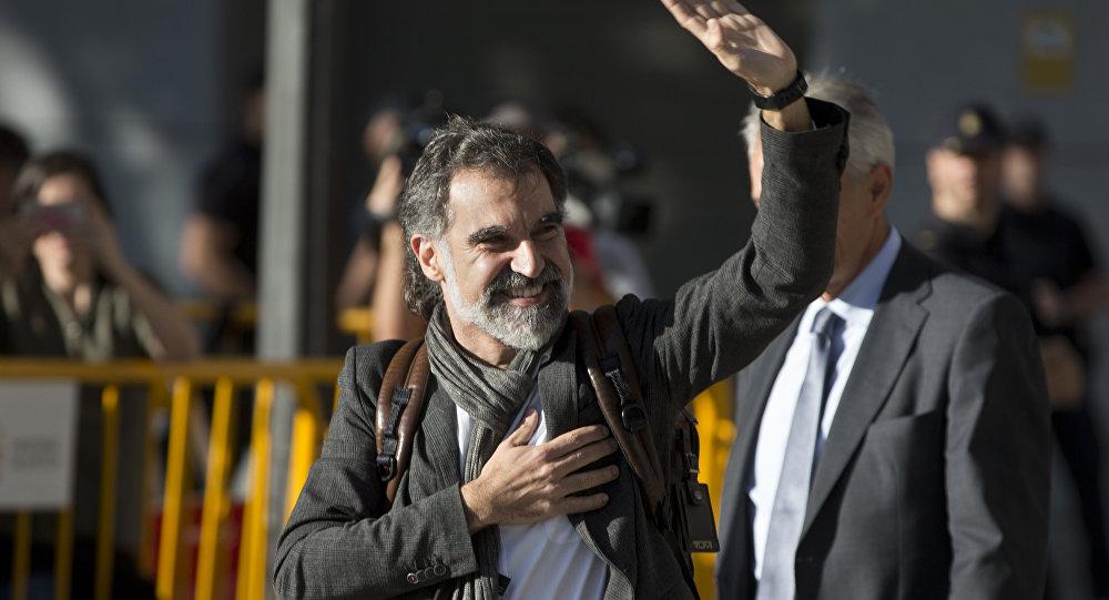El presidente de la asociación soberanista Òmnium Cultural, Jordi Cuixart