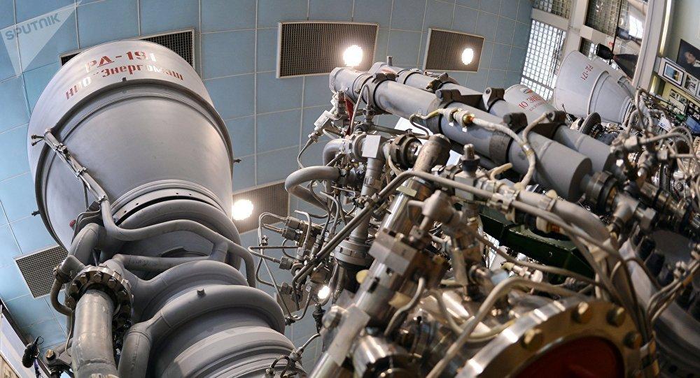 Motor de cohete RD-191 de la empresa rusa Energomash (imagen referencial)