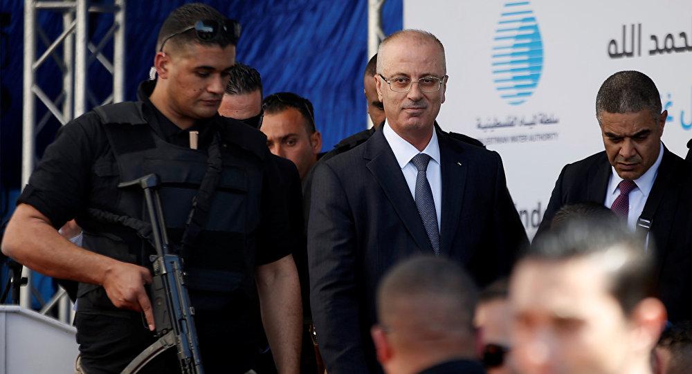 Explosión durante la visita del primer ministro palestino a Gaza