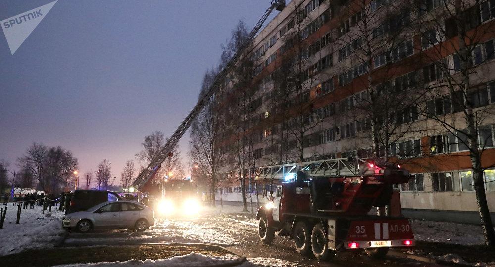 Lugar de explosión en San Petersburgo