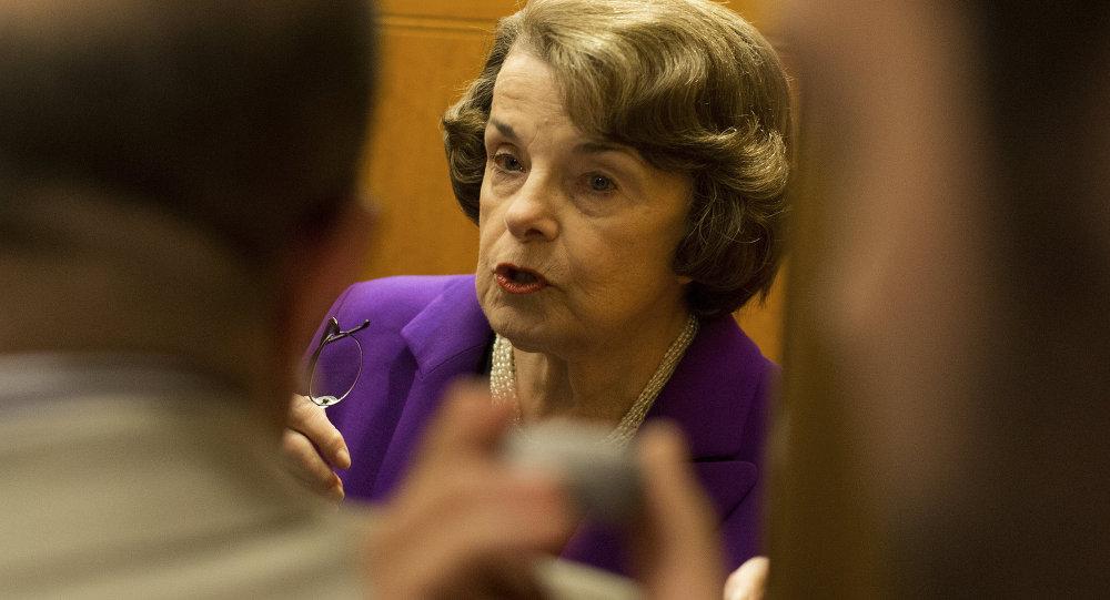 La senadora estadounidense Dianne Feinstein