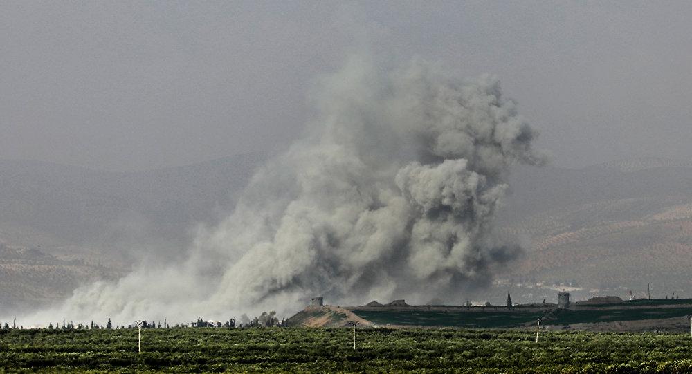 Bombardeos en Afrín, Siria