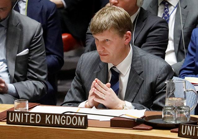 Jonathan Allen, representante permanente adjunto de Gran Bretaña ante la ONU