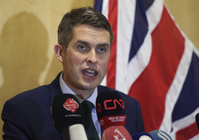 Gavin Williamson, ministro de Defensa británico (archivo)